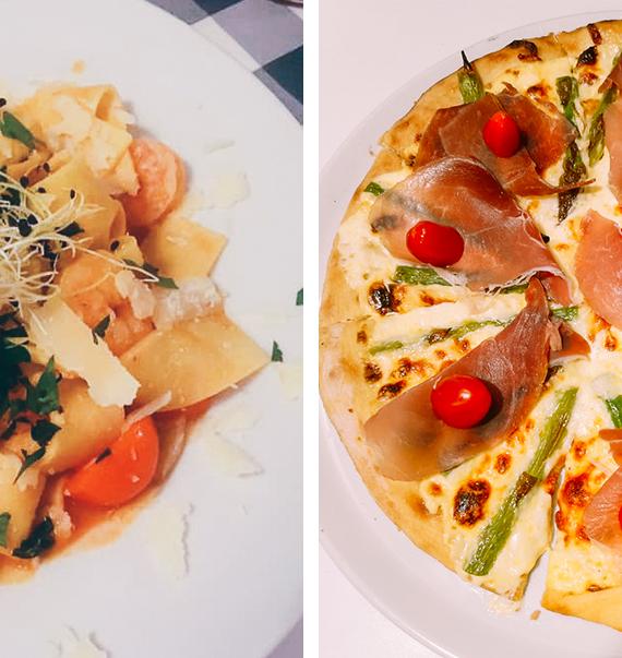 Leckere Pizza und Pasta im Ristorante Castello Angelo Buckow